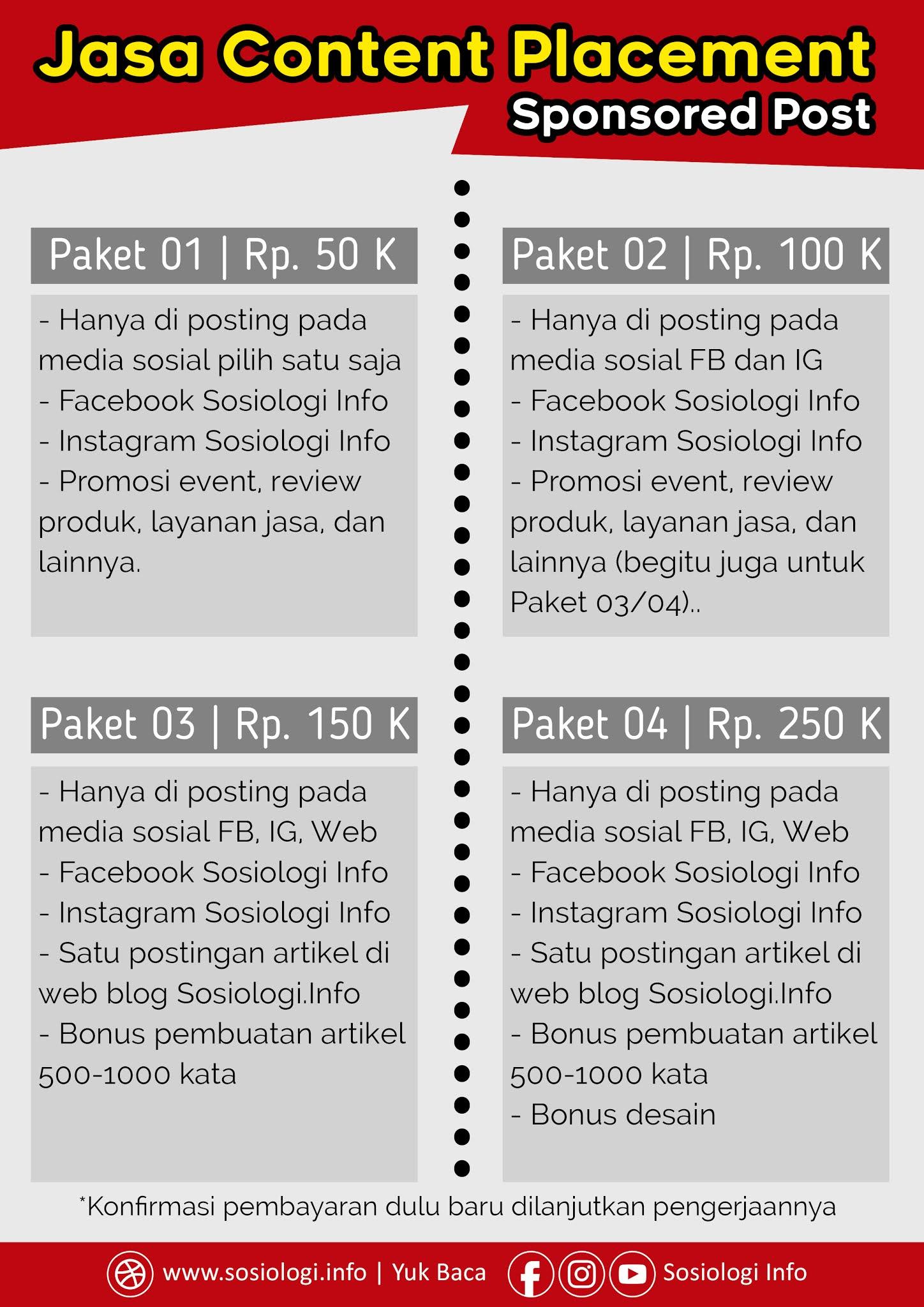 Jasa Content Placement dan Sponsored Post untuk Event, Review Produk