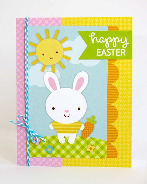 Doodlebug Easter Parade & Lawn Fawn Happy Easter Bunny Quick & Easy Card by Mendi Yoshikawa