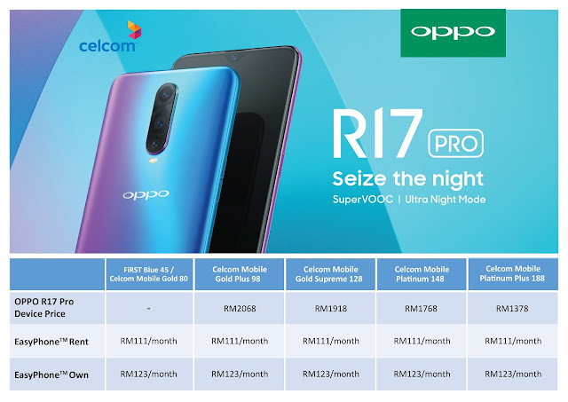OPPO R17 Pro Exclusive Olike Neo Smartwatch Free Gift from Celcom