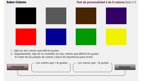 Sobre Colores: Test de los colores 4 de 8