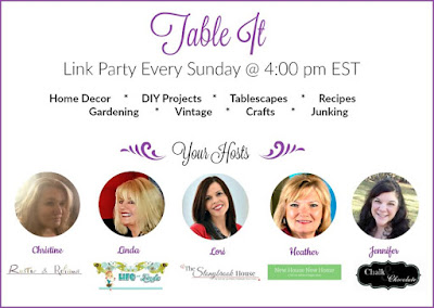 Table It Link Party aka Dishing It and Digging It Link Party for bloggers to share their blog posts and network
