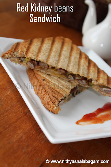 Red Kidney beans Sandwich | Rajma Sandwich