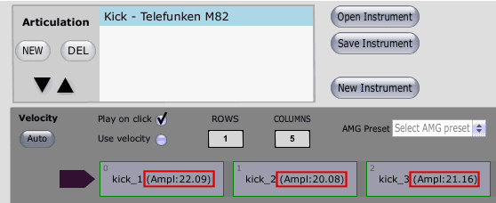 Amplitude measurements in Slate Trigger 2 Instrument Editor