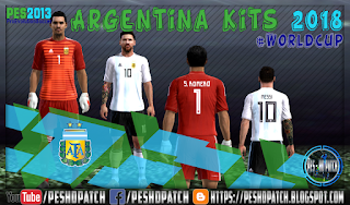 Argentina World Cup 2018 kits for PES 2013