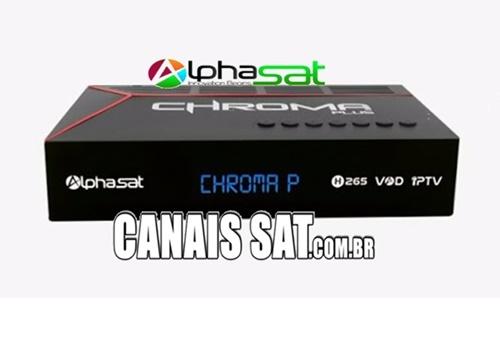 Alphasat Chroma Plus Nova Atualização V13.01.15.S76 - 27/01/2021