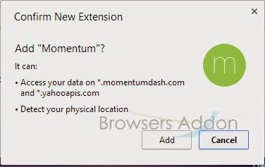 momentum_chrome_confirmation