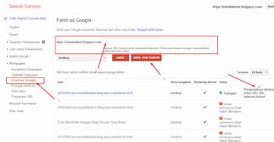 Cara Cepat Supaya Postingan Terindex Oleh Google