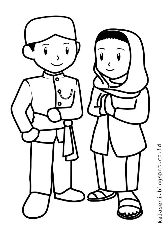 Mewarnai Pakaian Adat : mewarnai, pakaian, Contoh, Gambar, Mewarnai, Pakaian, Indonesia, KataUcap
