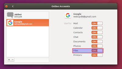 GNOME 3.18 online accounts Ubuntu