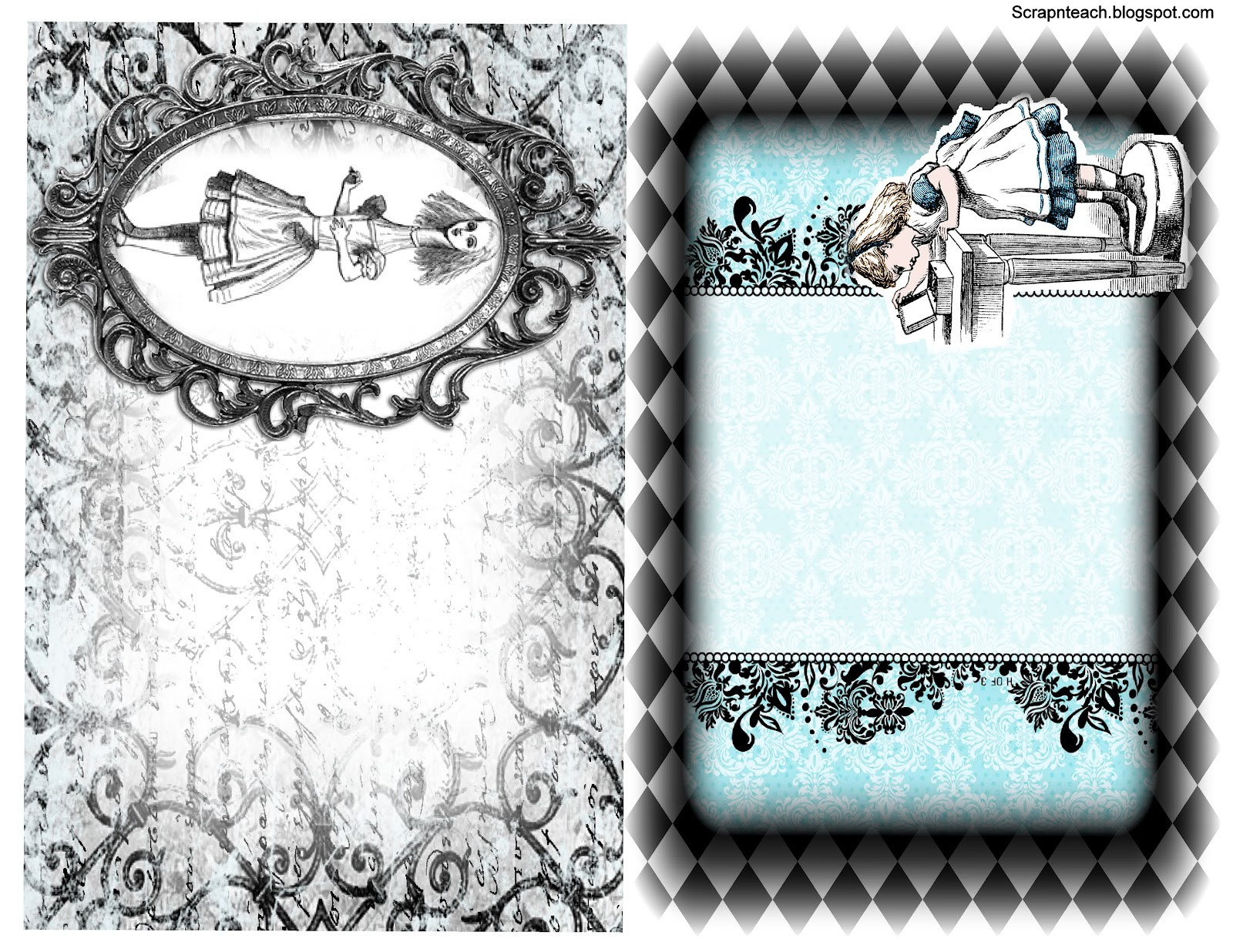 Scrap N Teach Alice In Wonderland Mini Free Printables