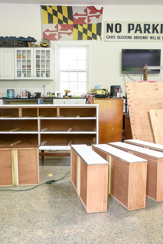 Priming Bassett dresser for paint