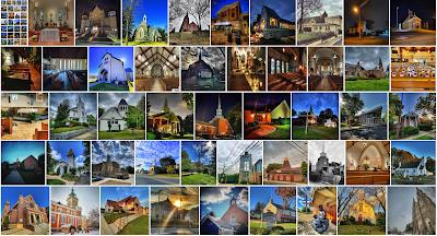 Thumbnail photos of churches