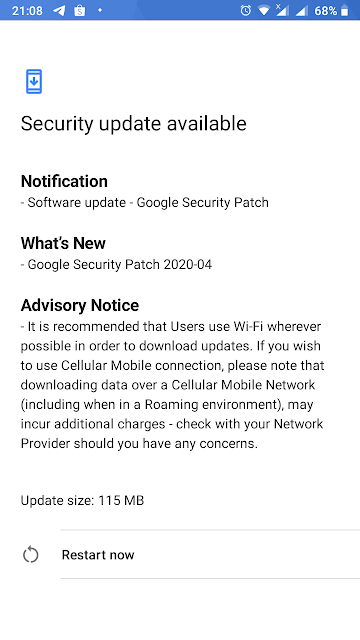 Nokia 5 receiving April 2020 Android Security patch