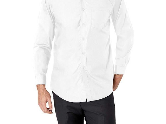 GOMAGEAR FIT LONG SLEEVE SHIRT - WHITE