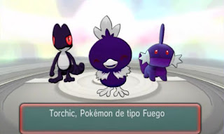 Pokemon Rayless Ruby para 3DS Iniciales Starters Pokemon Oscuros Forma Sombra