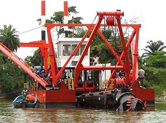 JMD650 26 inch cutter suction dredger with Work Boat