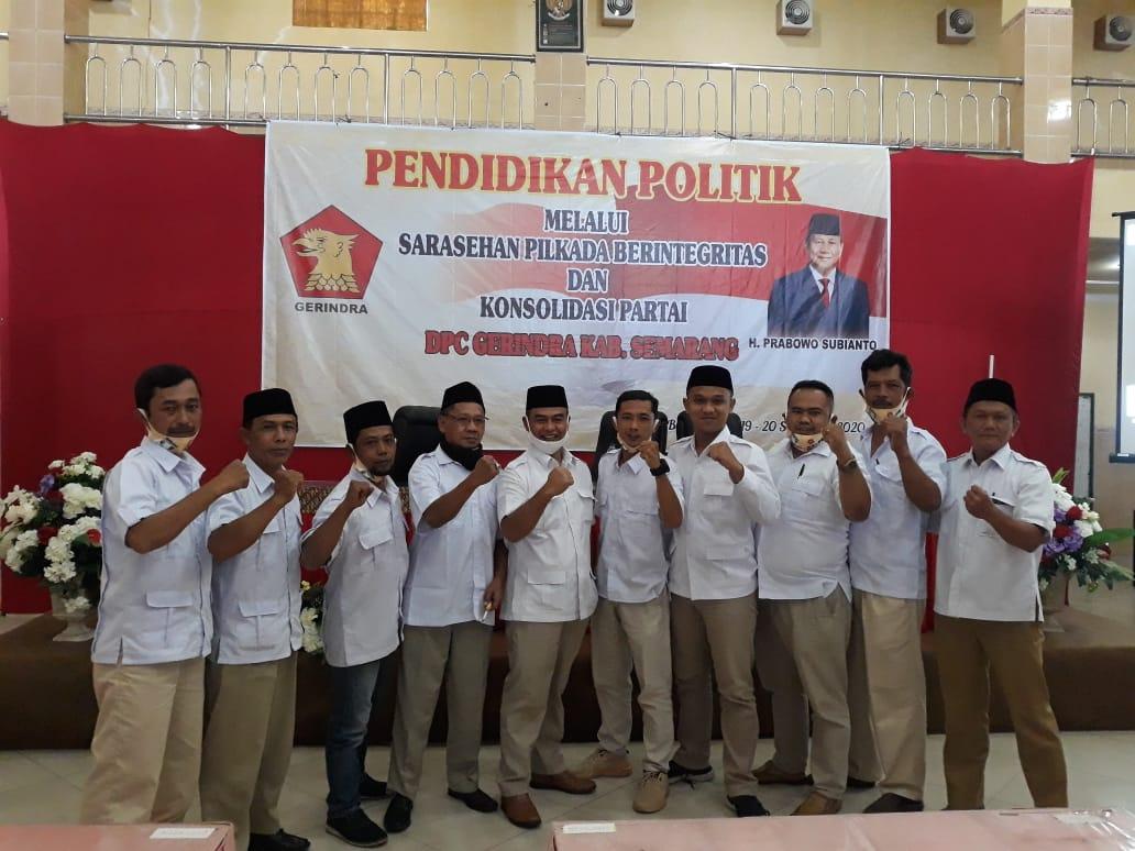 Pengurus Harian PAC Partai Gerindra Kecamatan Ambarawa, Kabupaten Semarang.