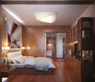 Habitación revestimiento madera
