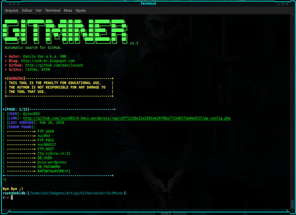GitMiner Screenshot 1