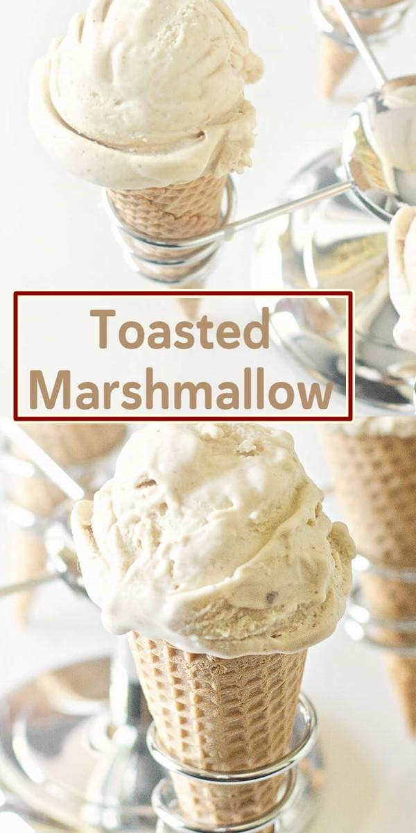 Toasted Marshmallow Ice Cream Recipe #Icecreamrecipes