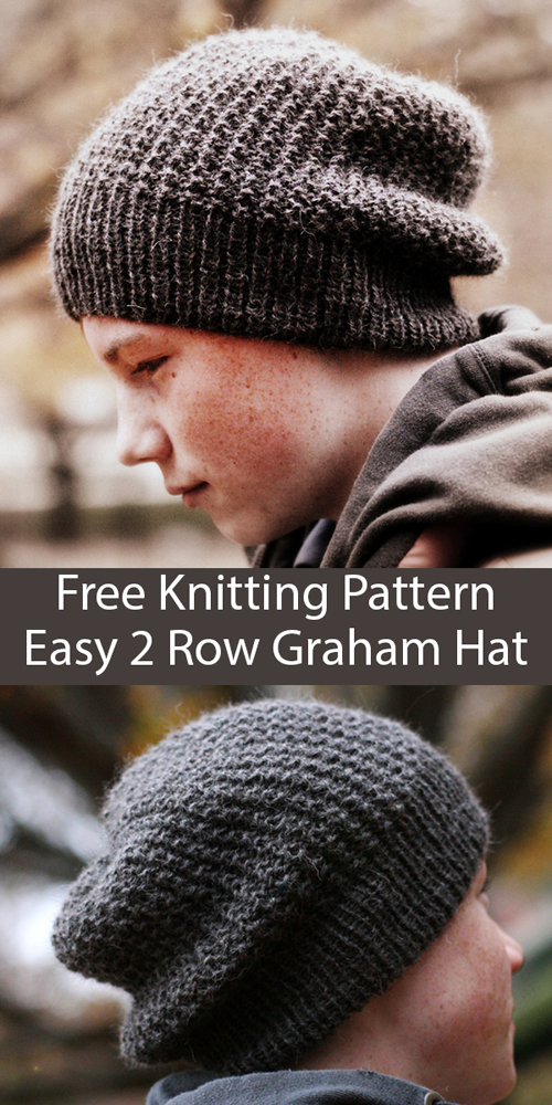 Easy 2 Row Repeat Graham Hat - Free Pattern