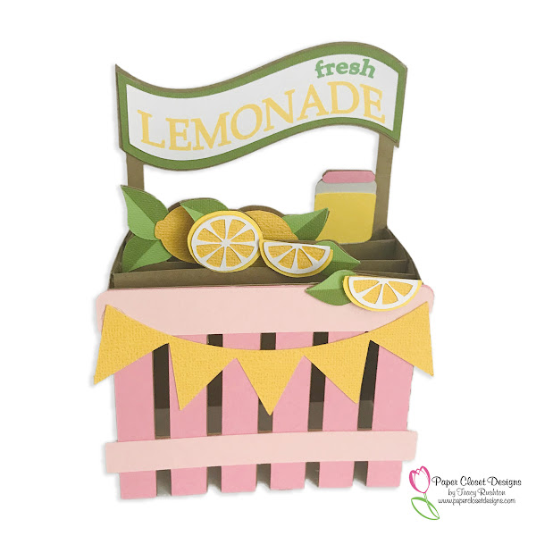 Lemonade Stand Box Card for Summer