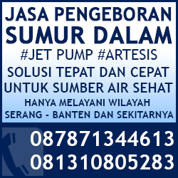 Jasa Pengeboran Sumur Dalam Jetpump Artesis