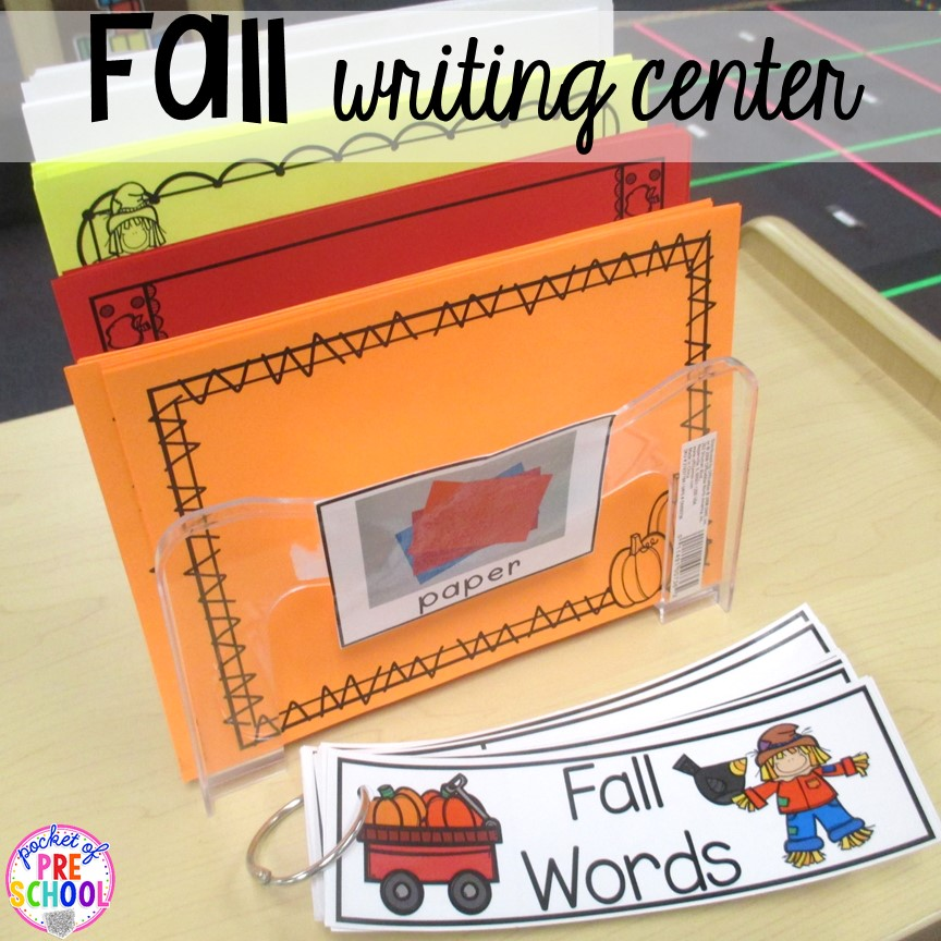 Classroom Literacy Ideas ~ Fall themed activities for little learners pocket of