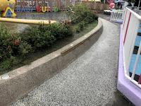 兒童新樂園1樓遊戲設施旁防護條試辦改善工作