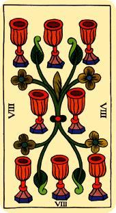 Tarot de Marsella: Ocho de Copas