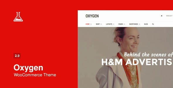 Oxygen v2.9.1 WooCommerce WordPress Theme