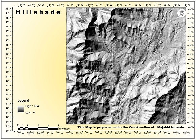 Black Hills Elevation Map.Gis Remote Sensing Guide How To Make A Hill Shade Elevation Map