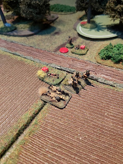 Another British section is forced to retreat