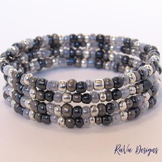 handmade beaded bracelets seed bead pattern ideas gunmetal gray