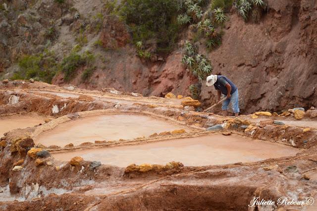 Terrasses de sel à Maras, Pérou