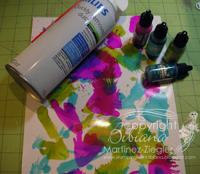 alcohol inks background supplies