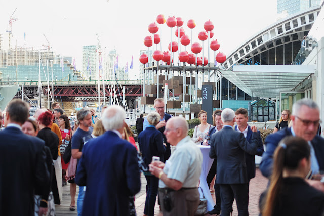 Guests mingle at the 2020 program launch Australian Maritime Museum Sydney