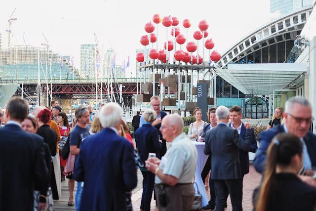 Guests mingle at the 2020 program launch Australian Maritime Museum Sydney