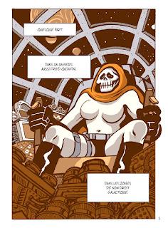 Bande dessinée - Captain Death - la Mort dans son vaisseau spatial
