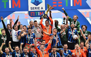 تتويج انتر ميلان بالدوري الإيطالي 2021