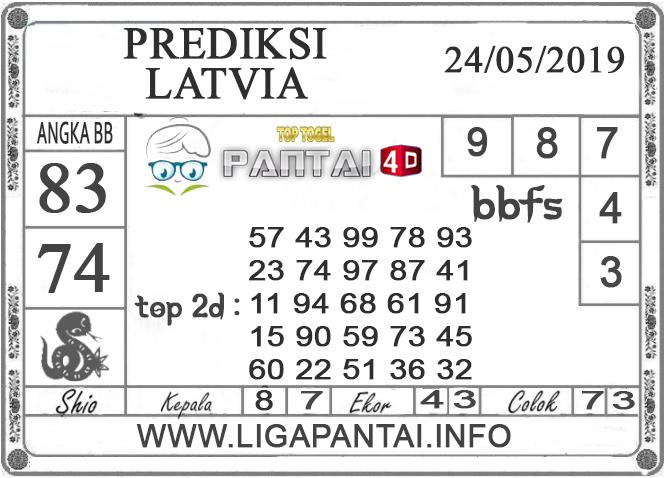 """Prediksi Togel """"LATVIA"""" PANTAI4D 24 MEI 2019"""