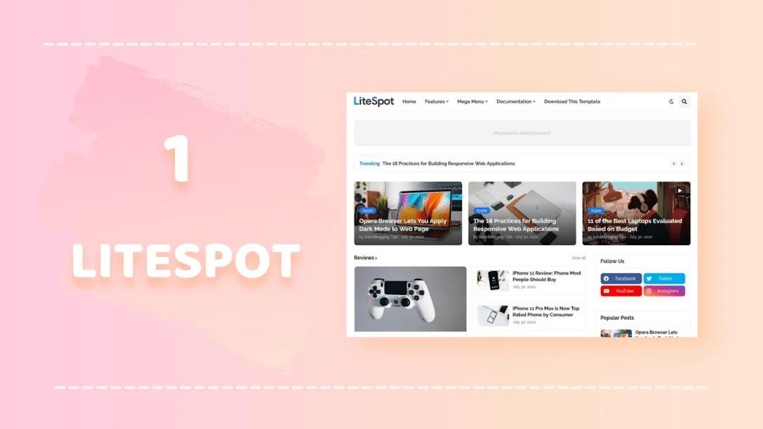 Litespot blogger template
