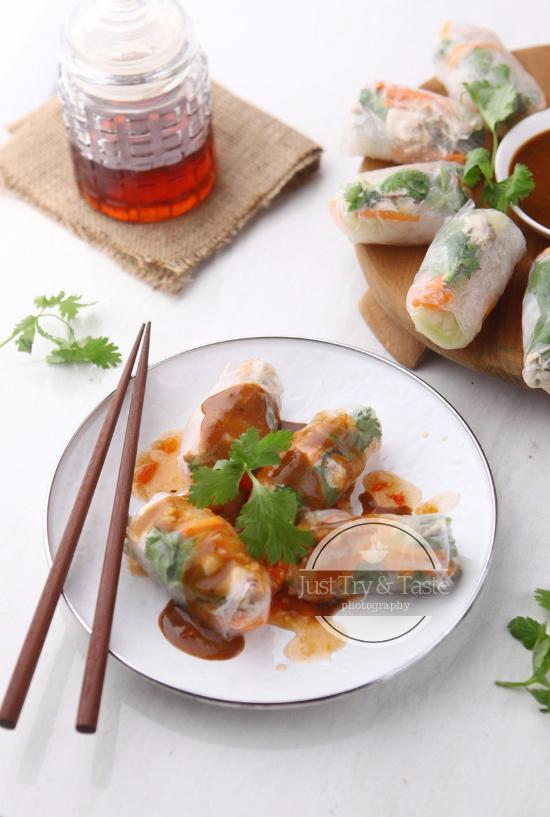 Resep Vietnamese Salad Rolls