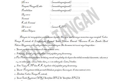Contoh Surat Lamaran Kerja, Contoh Surat Pernyataan Kerja, Contoh Curriculum Vitae (CV)
