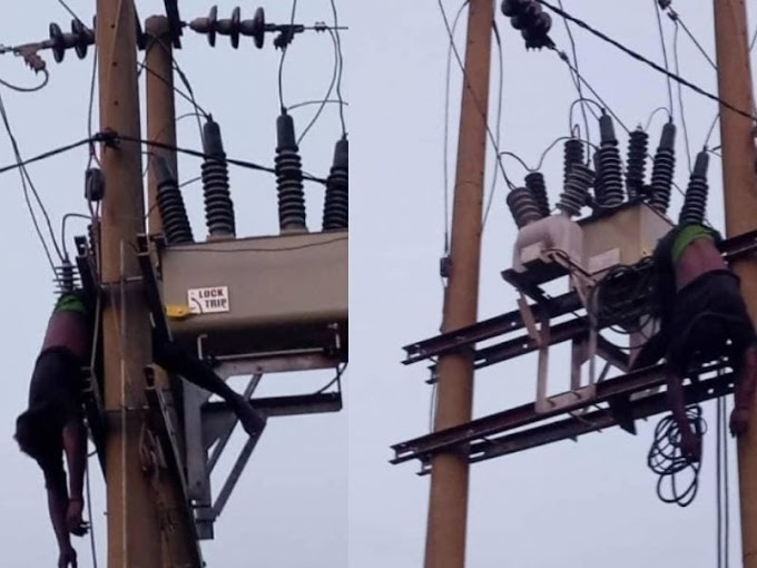Young Man Electrocuted To Death In Abuja After Climbing A High Tension Electric Pole