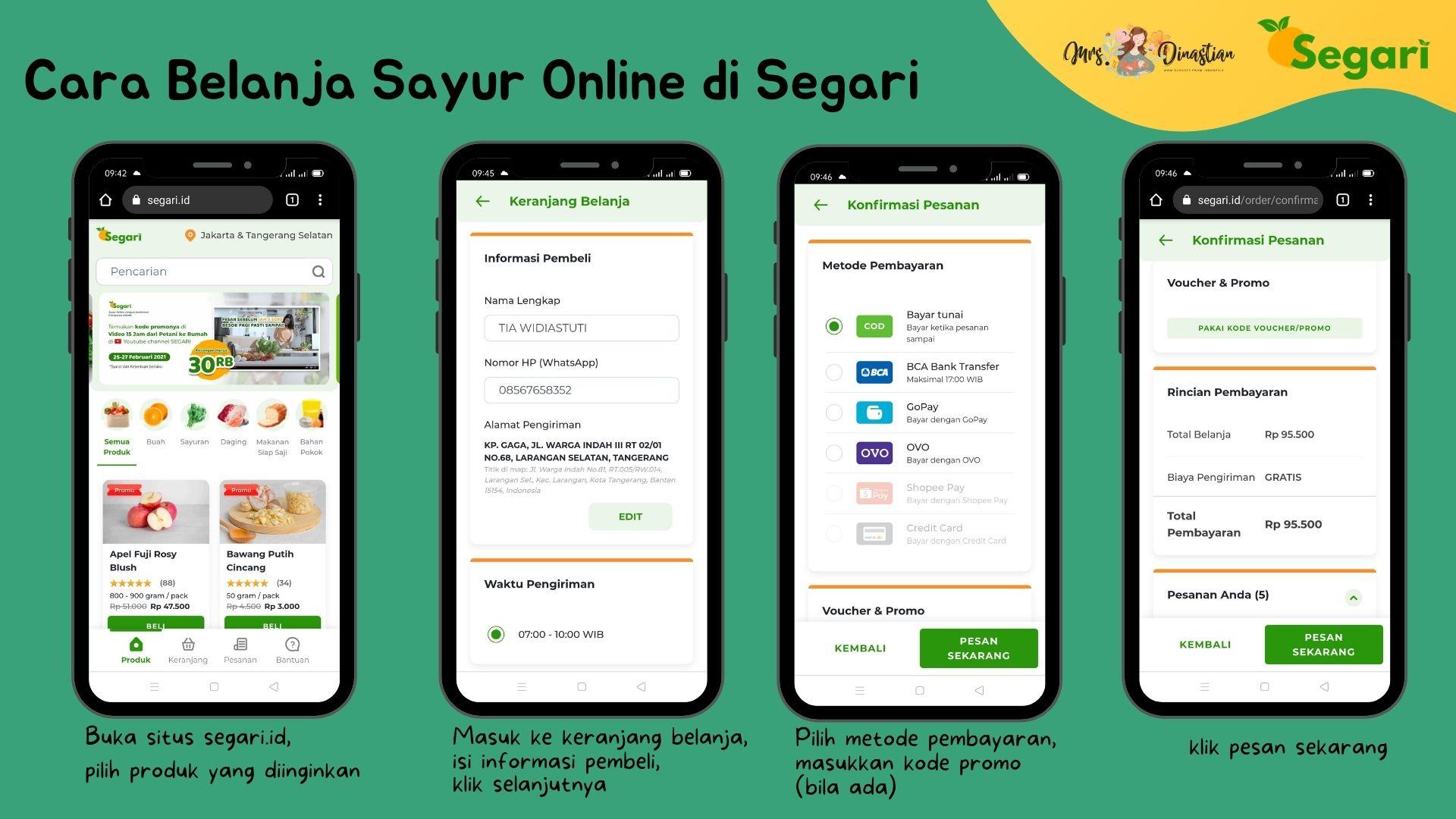 Cara Belanja Sayur di Segari.id