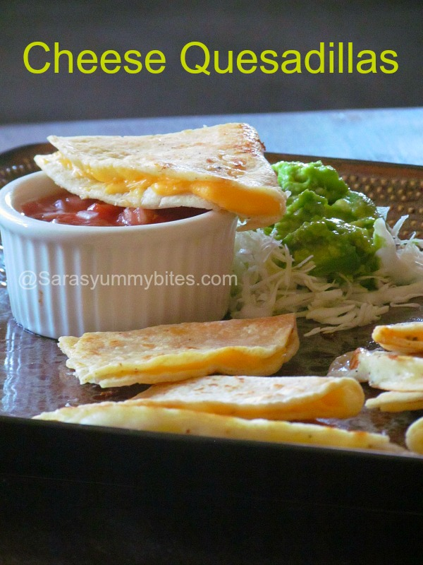 Simple and Easy Cheese Quesadillas