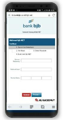 Cara Aktivasi BJB Net