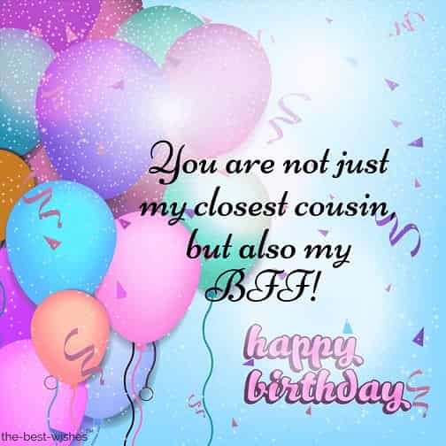 hbd message to cousin