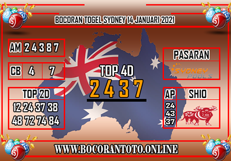 Bocoran Toto Sydney Kamis 14 Januari 2021